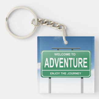 Adventure concept. key ring