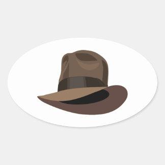 Adventure Fedora Oval Sticker