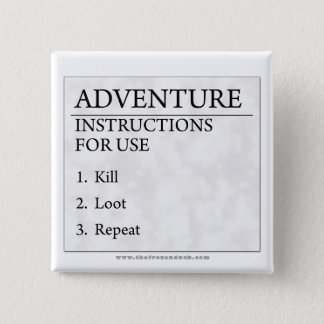 Adventure Instructions 15 Cm Square Badge