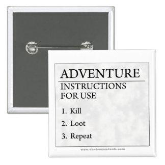 Adventure Instructions 15 Cm Square Badge