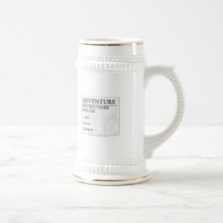 Adventure Instructions Beer Stein