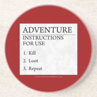 Adventure Instructions Coaster