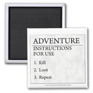 Adventure Instructions Square Magnet