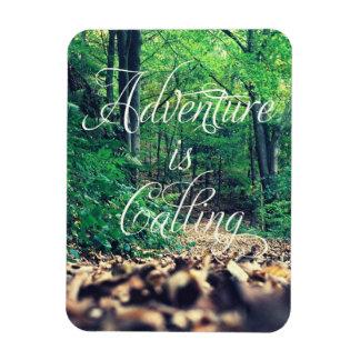 Adventure is calling rectangular photo magnet