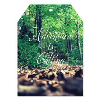 Adventure is calling 13 cm x 18 cm invitation card