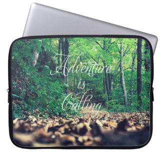 Adventure is calling laptop sleeve