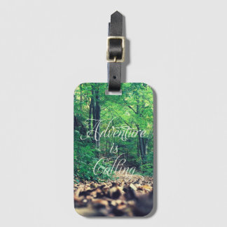 Adventure is calling luggage tag