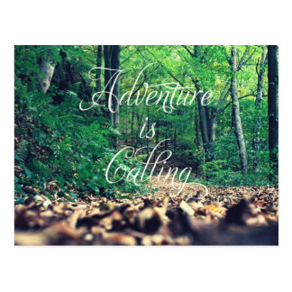 Adventure is calling postcard