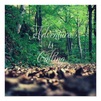 Adventure is calling poster