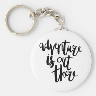 Adventure  is Out There Basic Round Button Key Ring