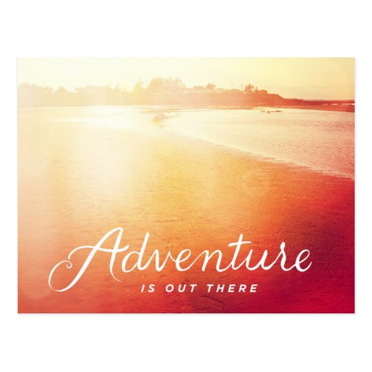 Adventure Is Out There Postcard