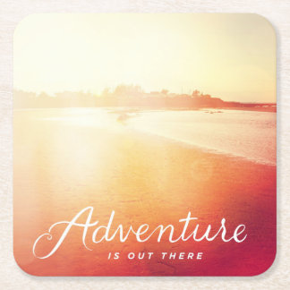 Adventure Is Out There Square Paper Coaster