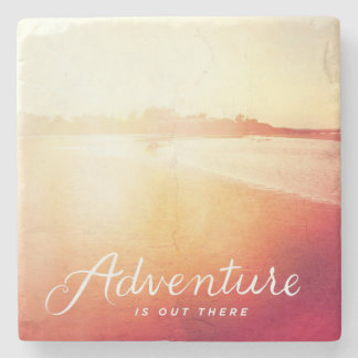 Adventure Is Out There Stone Coaster