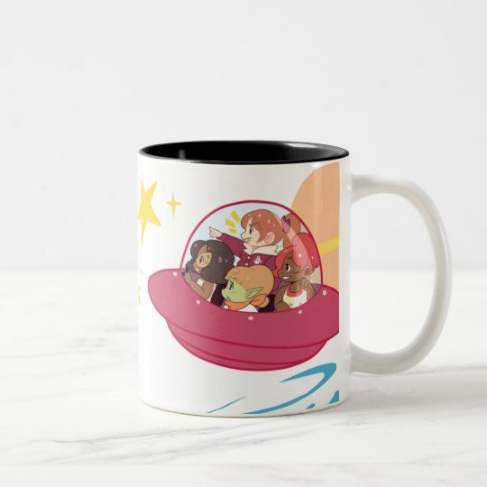 Adventure Is Out There! Two-Tone Coffee Mug