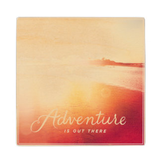 Adventure Is Out There Wood Coaster