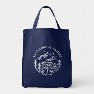 Adventure is Waiting Grocery Tote