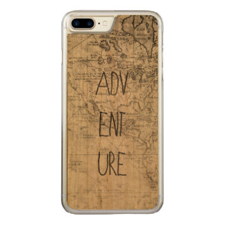 Adventure map carved iPhone 8 plus/7 plus case
