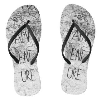 Adventure map flip flops