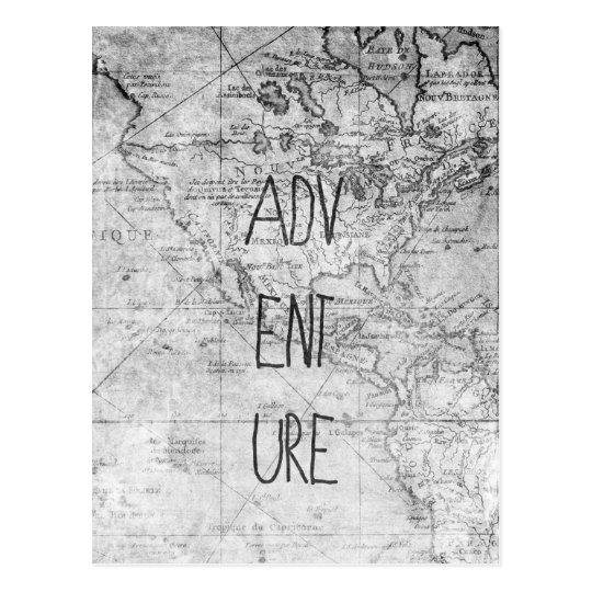 Adventure map postcard