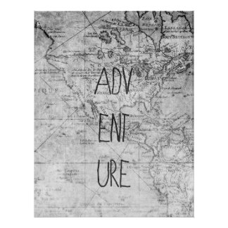 Adventure map poster