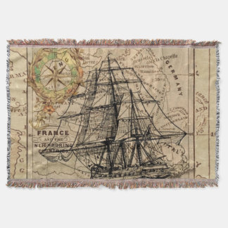 Adventure Mapped Throw Blanket