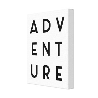 Adventure Minimalist Quote Canvas Print