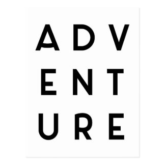Adventure Minimalist Quote Postcard