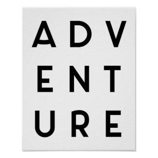 Adventure Minimalist Quote Poster