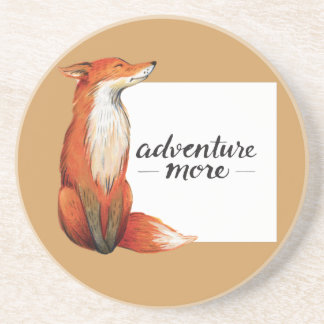 adventure more fox drink coaster