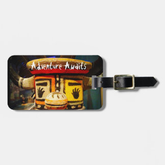 """Adventure"" oddball figure photo luggage tag"
