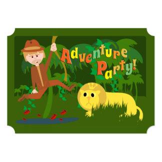Adventure Party 13 Cm X 18 Cm Invitation Card