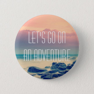 Adventure print 6 cm round badge