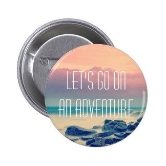 Adventure print 6 cm round badge