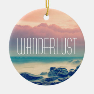 Adventure print christmas ornament