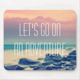 Adventure print mouse mat