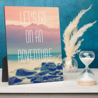 Adventure print plaque