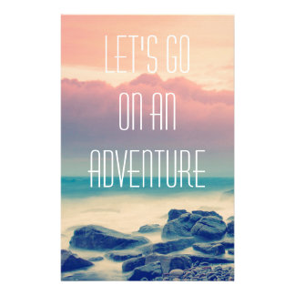 Adventure print stationery