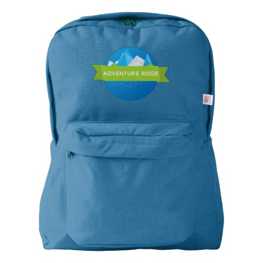 Adventure Ridge custom backpack