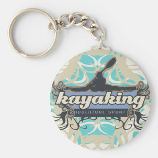 Adventure Sport Kayaking Tshirts and Gifts Basic Round Button Key Ring