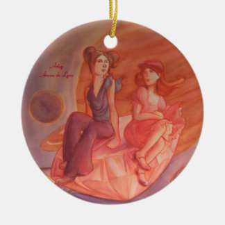 Adventure Through the Nebula Round Ceramic Decoration