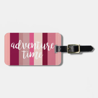Adventure Time Striped Luggage Tag