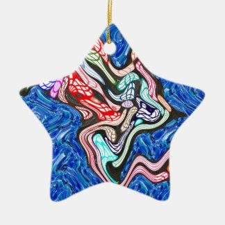 Adventure trip to Secret Forbidden Island Double-Sided Star Ceramic Christmas Ornament