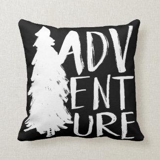 Adventure | White Brush Script style Cushion