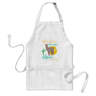 Adventure You Say? Alpaca My Bags Funny Travel Standard Apron