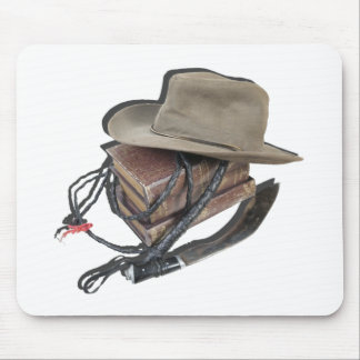 AdventureBooksAussieHatWhipDagger042113.png Mouse Pad