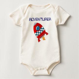 Adventurerous lil' baby - crawler baby gro baby bodysuit