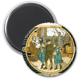 Adventures Abroad by Ship Refrigerator Magnet