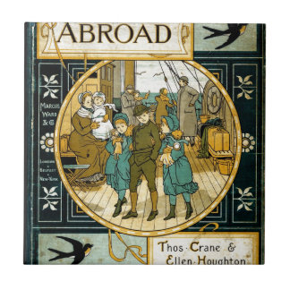 Adventures Abroad by Ship Small Square Tile