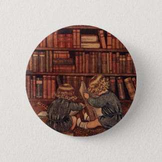 Adventures in the Library 6 Cm Round Badge