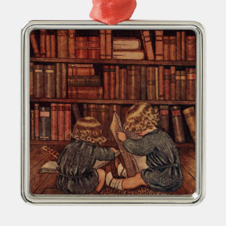 Adventures in the Library Christmas Ornament